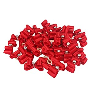 Traumdeutung Dog Hair Bows with Rubber Bands for Small Dogs Pet Grooming Accessories Pack of 20pcs/50pcs (red, 50pcs)