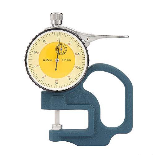 Pekare tjocklek mätare bärbar millimeter tum 0-10 mm urtavla display tjocklek mätare för plåt pappersrör mätverktyg med förvaringslåda