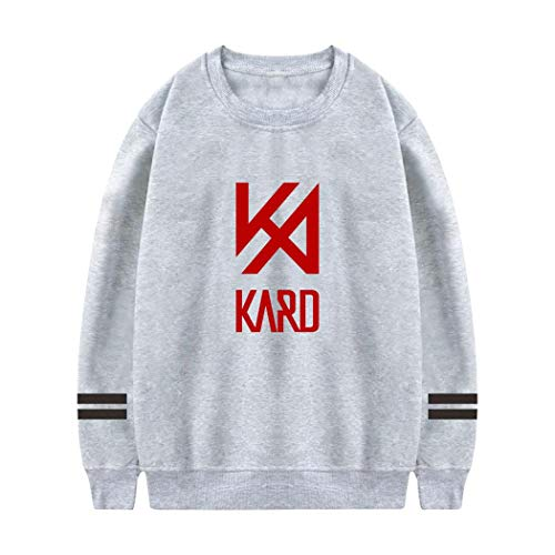 HTDays 女性の KARD Logo ラウンドネックセーター、フード、プルオーバー L