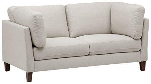 Amazon Brand – Rivet Midtown Contemporary Upholstered Loveseat Sofa, 68.5'W, Charcoal