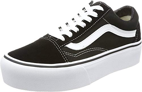 Vans Damen Old Skool Platform Sneaker, Schwarz Black White Y28, 36.5 EU