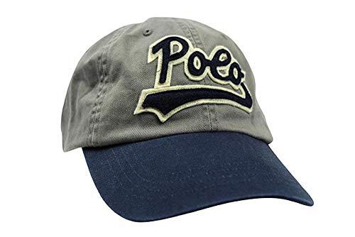 Polo Ralph Lauren Script Applique Big Logo Cotton Twill Baseball Cap Hat (Grey/Navy)