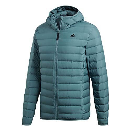 adidas M Terrex Varilite Soft Hooded Jacket Grün, Herren Daunen Freizeitjacke, Größe M - Farbe Raw Green