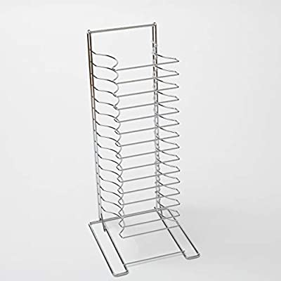 American Metalcraft 19029 Chrome-Plated Steel Standard Pizza Rack, 15 Slots, Silver