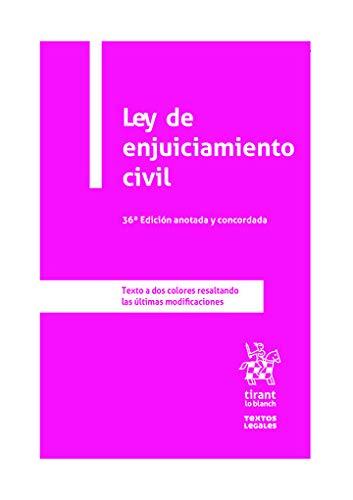 Ley De Enjuiciamiento Civil 36ª edición anotada y Concordada 2020 (Textos Legales)