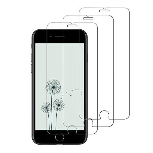 iDolix [3 Unidades] Protector de Pantalla para iPhone 7 / iPhone 8/iphone 6/iphone 6s,Cristal Templado para iPhone 7/8/6/6s Alta Definicion,9H Dureza,Sin Burbujas - Transparente