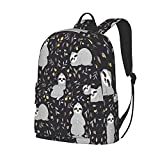 Foruidea Mochila de 16 pulgadas de perezoso mochila para ordenador portátil, bolsa de hombro, mochila ligera