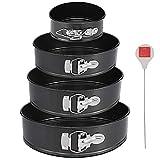 Springform Pan Set of 4: 4 7 9 and 10 inch | Cheesecake Pan | Nonstick Leakproof Cake Baking Pans |...