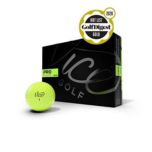 Vice Golf PRO Plus 2020   12 Golf Bälle   Eigenschaften: 4-Piece Cast Urethan, maximale Länge, reduzierter Driver Spin   Mehr Farben: White, NEON RED   Profil: Für fortgeschrittene Golfer