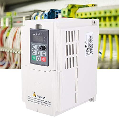Inversor de Frecuencia, 1.5KW-7.5KW Inversor VFD Trifásico 380V Entrada Salida Controlador Variador Frecuencia Variador Convertidor Frecuencia Profesional para Ventiladores Sequía, Bombas, etc(5.5KW)