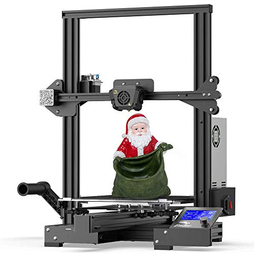 Impresora 3D oficial Creality Ender 3 Max mejorada con placa base silenciosa, fuente de alimentaci¨®n Meanwell, placa de vidrio de carborundum templado y tama?o de impresi¨®n grande 300x300x340mm