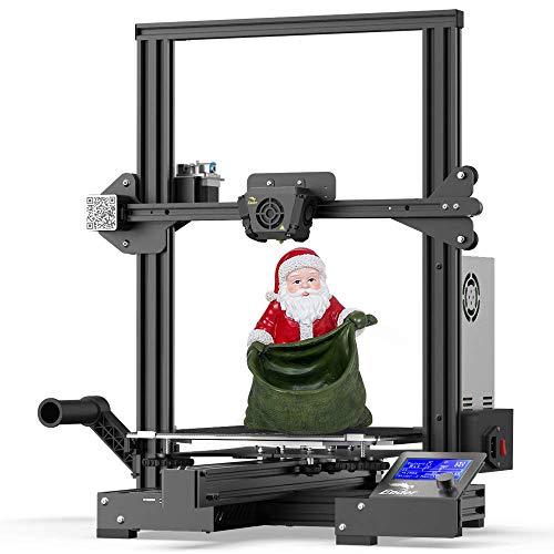 Impresora 3D oficial Creality Ender 3 Max mejorada con placa base silenciosa, fuente de alimentación Meanwell, placa de vidrio de carborundum templado y tamaño de impresión grande 300x300x340mm