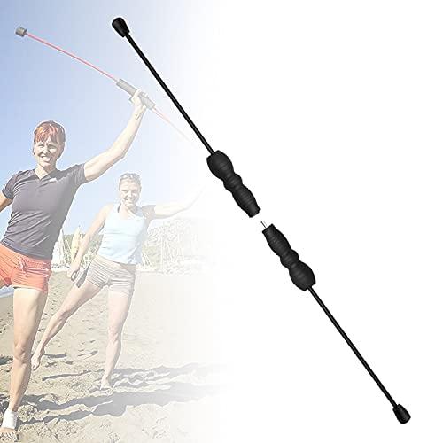HIMABeauty Alta Resistencia Tremor Rod, Pilates Bar Fitness Device con Mpuñaduras Antideslizantes Desmontable para Entrenamiento del Cuerpo Varilla De Oscilación Fitness De Fibra De Vidrio