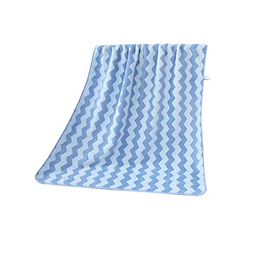YXLJC Toallas De Baño Grandes, Multipropósito Duraderas Absorbentes para Baño Sauna Invitados Baño De Microfibra (Azul)