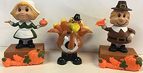 Thanks giving Solar Powered Dancing Assorment--1 Turkey and 2 Pilgrams