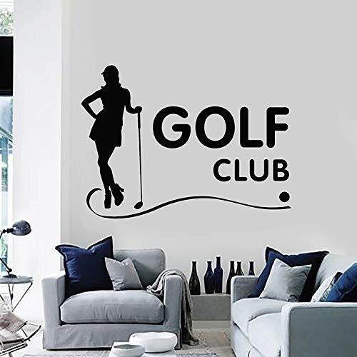 JXFM 71x96cm kann angepasst Werden Golfschläger Wandtattoos Sportspiele Mädchen Hobby Golfer Innendekoration Türen Fenster Vinyl Aufkleber Silhouette Kunst Tapete