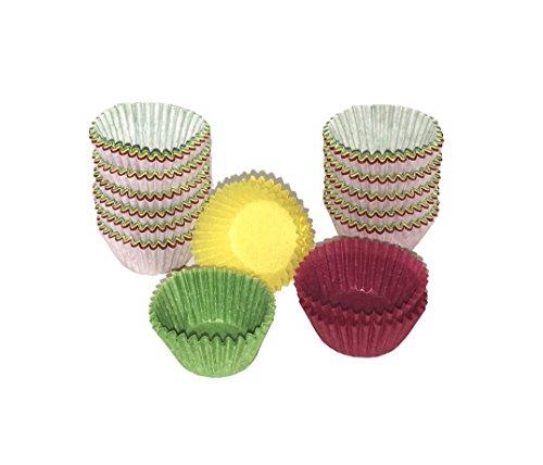 PAPSTAR 300 Backförmchen rot/gelb/grün farbig sortiert Fingerfood Muffinförmchen Mini Muffins für Partys und Kindergeburtstag