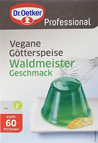 Dr. Oetker Professional Vegane Götterspeise mit Waldmeister-Geschmack, Fertig gezuckert, Götterspeisenpulver in 1 kg Packung