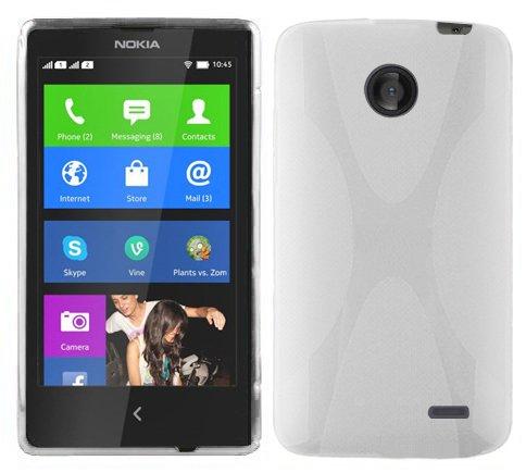 Preisvergleich Produktbild Cadorabo Hülle für Nokia Lumia X - Hülle in Magnesium WEIß Handyhülle aus flexiblem TPU Silikon im X-Line Design - Silikonhülle Schutzhülle Soft Back Cover Case Bumper