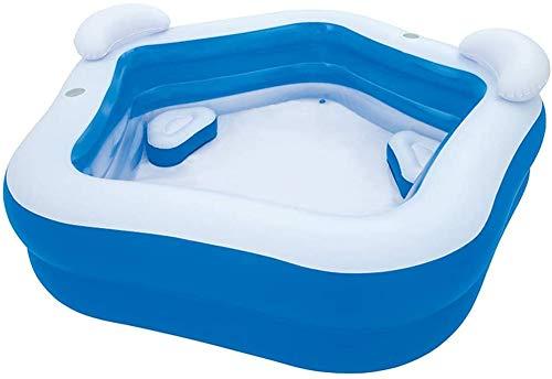 xyl Piscina Hinchable de 2 plazas, reposacabezas, portavasos, Piscina Infantil, bañera para niños, Infantes, Adultos