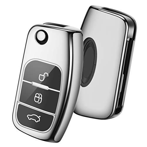 OATSBASF Funda para Llave Ford,Cover Carcasa de TPU Silicona para Ford Fiesta Focus Galaxy Fusion Mo