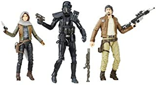 Star Wars Rogue One Black Series Figure Action Figure 3-Pack with Captain Cassian Andor Sergeant Jyn Erso (Jedha) and Imperial Death Trooper