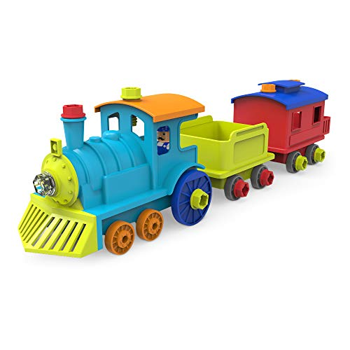 Educational Insights Design & Drill All Aboard Train - Drill Toy, STEM Learning