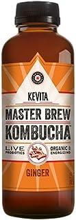 KEVITA Master Brew Kombucha Ginger, 15.2 Ounce (Pack of 6)