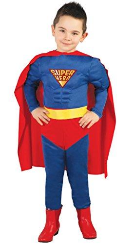 Guirca - Disfraz de Superman, talla 5-6 años, color azul (82670)