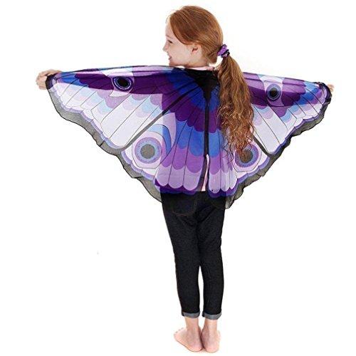 Faschingskostüme Schmetterling Schal Kinder Kostüm Schmetterlingsflügel Pixie Halloween Cosplay Schmetterlingsf Butterfly Wings Flügel LMMVP
