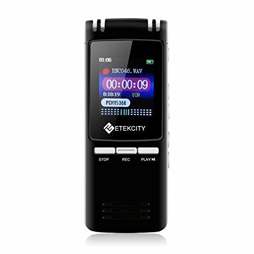 Etekcity VR-BK8 Grabadora de Voz Digital...