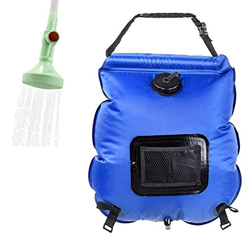 C/N Bolsa de ducha para acampar al aire libre, bolsa de baño portátil, plegable, calefacción solar, bolsa de baño de senderismo 20 L
