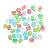 Cabilock 100 piedras que brillan en la oscuridad, pequeñas piedras decorativas para acuarios frescos, agua, paisajismo, maceta, decoración del hogar, multicolor