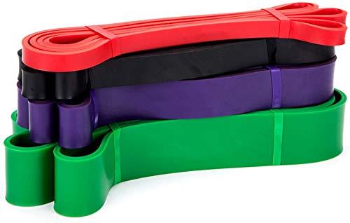 BESTOPE Bandas Elásticas con Diferentes Potencias para el Entrenamiento de Fuerza, Paquete de 4, Material de Látex Natural, Multicolor