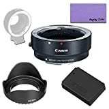 Canon EOS M Mount Adapter with Replacement LP-E12 Lithium-ion Battery Pack for Canon EOS M50, M100 DSLR Cameras