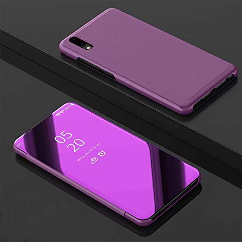 Jiangym Fundas rígidas para teléfonos móvilesAccesorios mó Espejo galvanoplástico con Tapa…