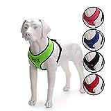 Oncpcare - Arnés de perro con nombre, bordado con número de teléfono para mascotas, collar de identificación personalizado de malla suave acolchado para perros