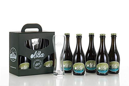 Oliba Green Beer Cerveza Artesana de Olivas Natural Sin gluten - Botella de 33 cl - Pack de 6 unidades(6)