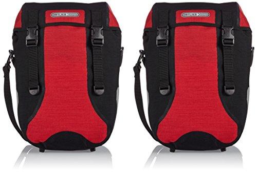 Ortlieb Fahrradtasche Sport Packer Plus schwarz rot/schwarz