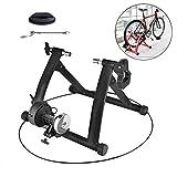 Wyujie Soporte para Bicicletas Suelo Entrenar Stability & Durable Rodillo Bicicleta para Spinning, Ejercicio, Fitness Y Entrenamiento,Negro