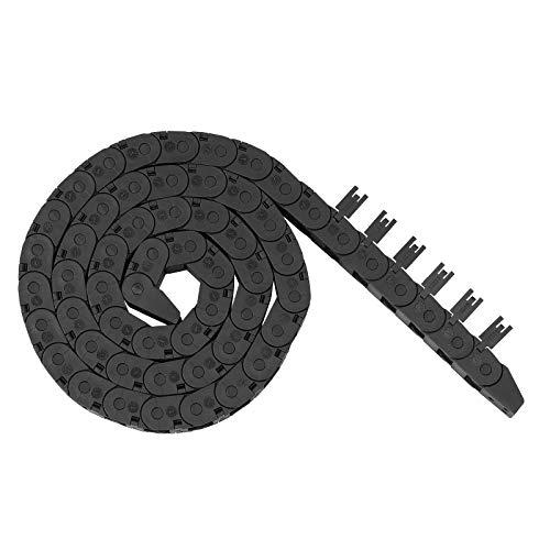 Redrex 10mm x 11mm Outside Open Type Cadena de Arrastre Plástico Towline Transportador de Cable Portador de Alambre, con conectores finales para máquinas CNC de cableado de impresoras 3D