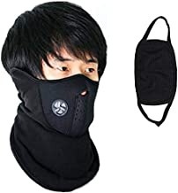 Prime Box Black Bike Face Mask 2pcs Combo Dust Protection Fabric