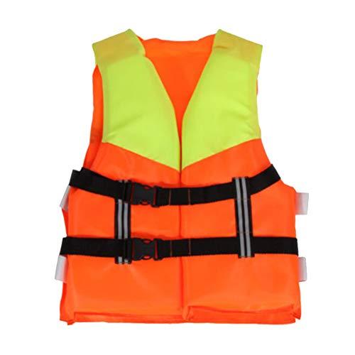 BakaKa Chalecos Salvavidas Profesionales Chaleco Salvavidas Ajustable Espuma de flotación Natación Navegación Esquí Chaleco de Seguridad con Silbato