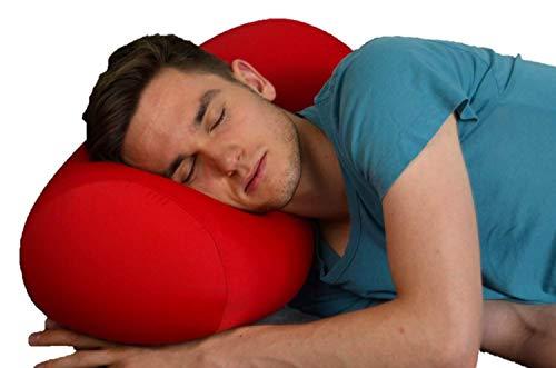 MEGA Pillow, Rot, Nackenrolle, Nackenkissen, Relaxkissen, Kissenrolle, Super Soft, besonders groß, 56 cm lang x 25 Durchmesse
