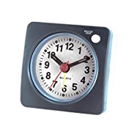 目覚まし時計 クロック アラーム ビープ音 トラベル ルーム 多機能 グレー