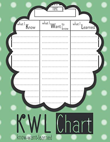 KWL Chart: ( Know, Want To Know, Learned ) Graphic Organizer | Learning Chart For Kids & Teens | Large 8.5''x11'' Inches, 110 Pages
