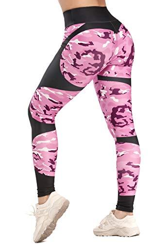 FITTOO Legging Yoga Femme Pantalon de Sport Collant Rayé Taille Haute Elastique...