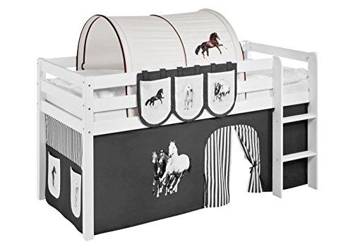 Lilokids Tunnel Pferde Braun Beige - für Hochbett, Spielbett und Etagenbett