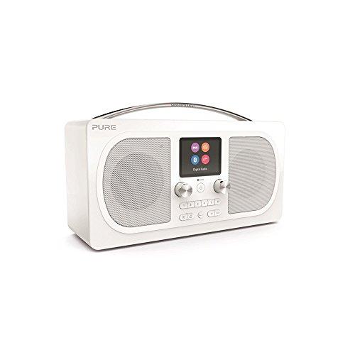 Pure Evoke H6 Digitalradio (DAB+, DAB, UKW, Stereo-Sound, Bluetooth, Sleep-Timer, Weckfunktion, Schlummerfunktion, Countdown-Timer, 40 Senderspeicherplätze, AUX), Weiß