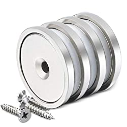 DIYMAG Neodymium Round Base Cup Magnet with Mounting Screws, Permanent, Strong and Craft Pot Magnets, 1.26 inch(32mm), Pack of 4: Amazon.com: Industrial & Scientific